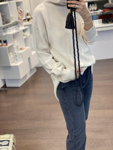 High Neck Sweater in Ivory - SchneeweissRosenrot