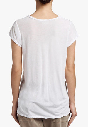 High Gauge Deep V-Tee in White