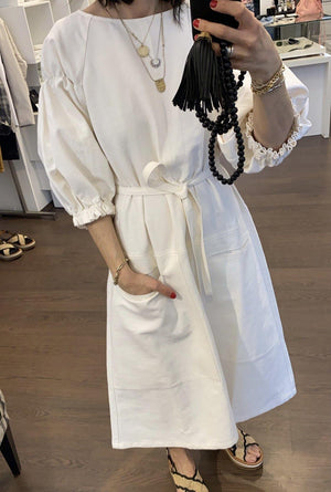 Gabi Dress in White - SchneeweissRosenrot