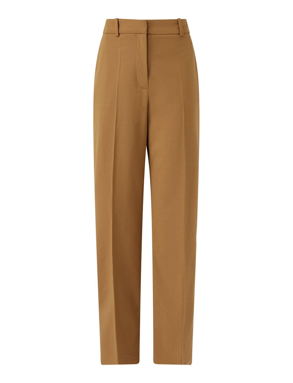 Coleman Light Wool Suiting Trousers in Beige