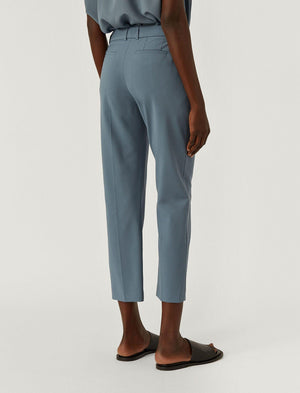 Tape Light Wool Suiting Trousers in Blue Steel