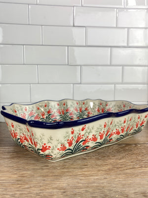 Fancy Rectangular Baker / Bowl - Shape A51 - Pattern 1437