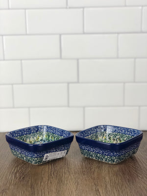 Small Unikat Square Ramekin/ Dish- Shape 428 - Pattern U4178