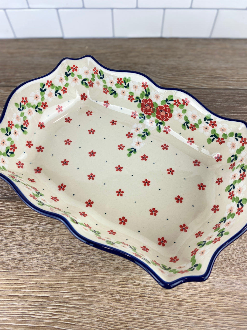 SALE Fancy Rectangular Baker / Bowl - Shape A51 - Pattern 2352