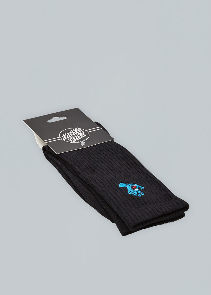 Santa Cruz Screaming Mini Hand Socks Black