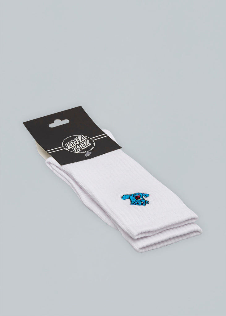 Santa Cruz Screaming Mini Hand Socks White