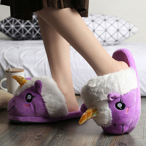 Plush Unicorn Slippers - come in 3 different colors!