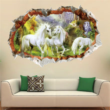 Unicorn 3D effect wall decal