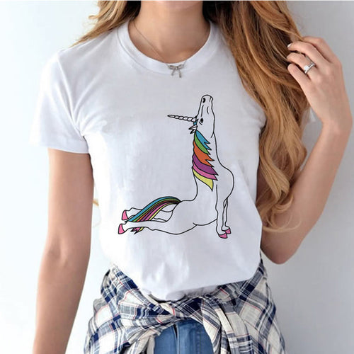 Yoga Unicorn cotton Tee