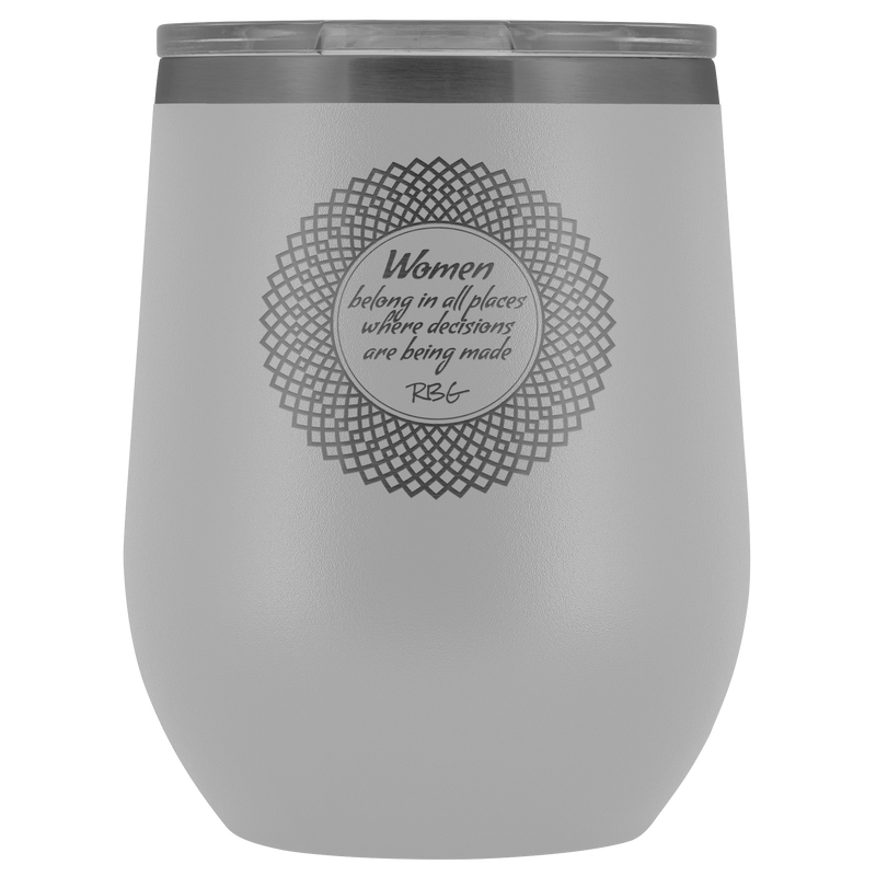 Rbg Women Belong Wine Tumbler Stemless With Lid Notorious Ruth Bade Gear Up For Change