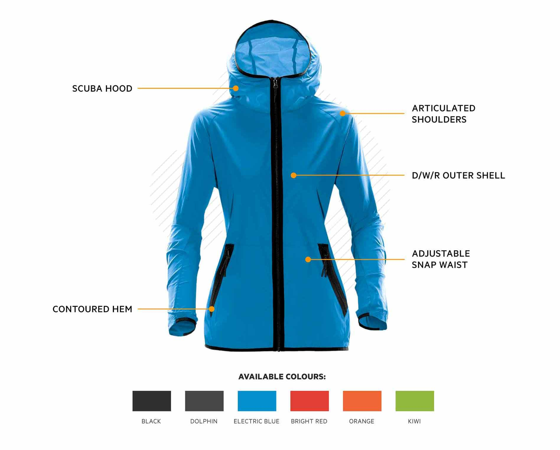 TMX-1W Stormtech Ozone Hooded Shell
