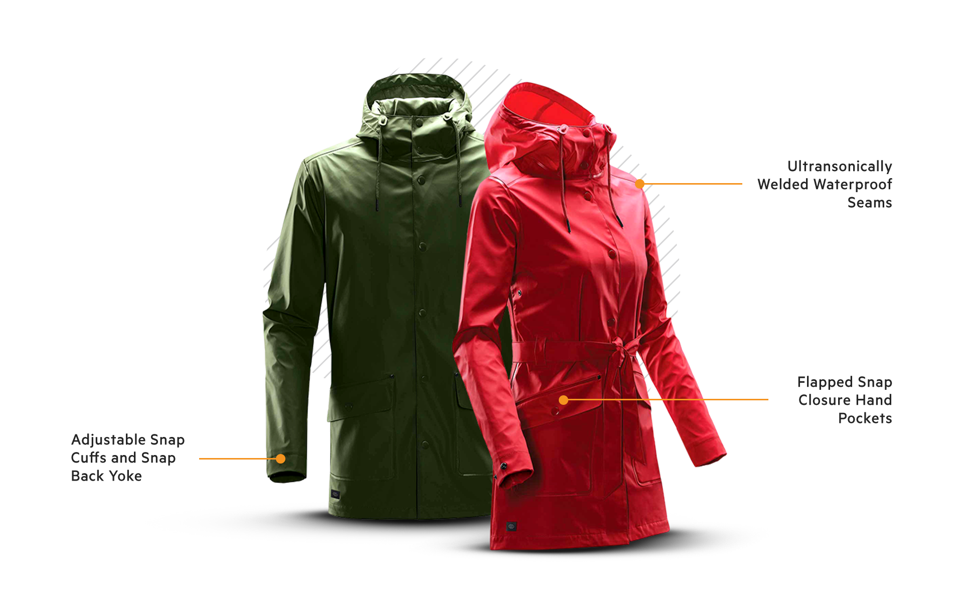 Waterfall Rain Jacket - WRB-2 & WRB-2W