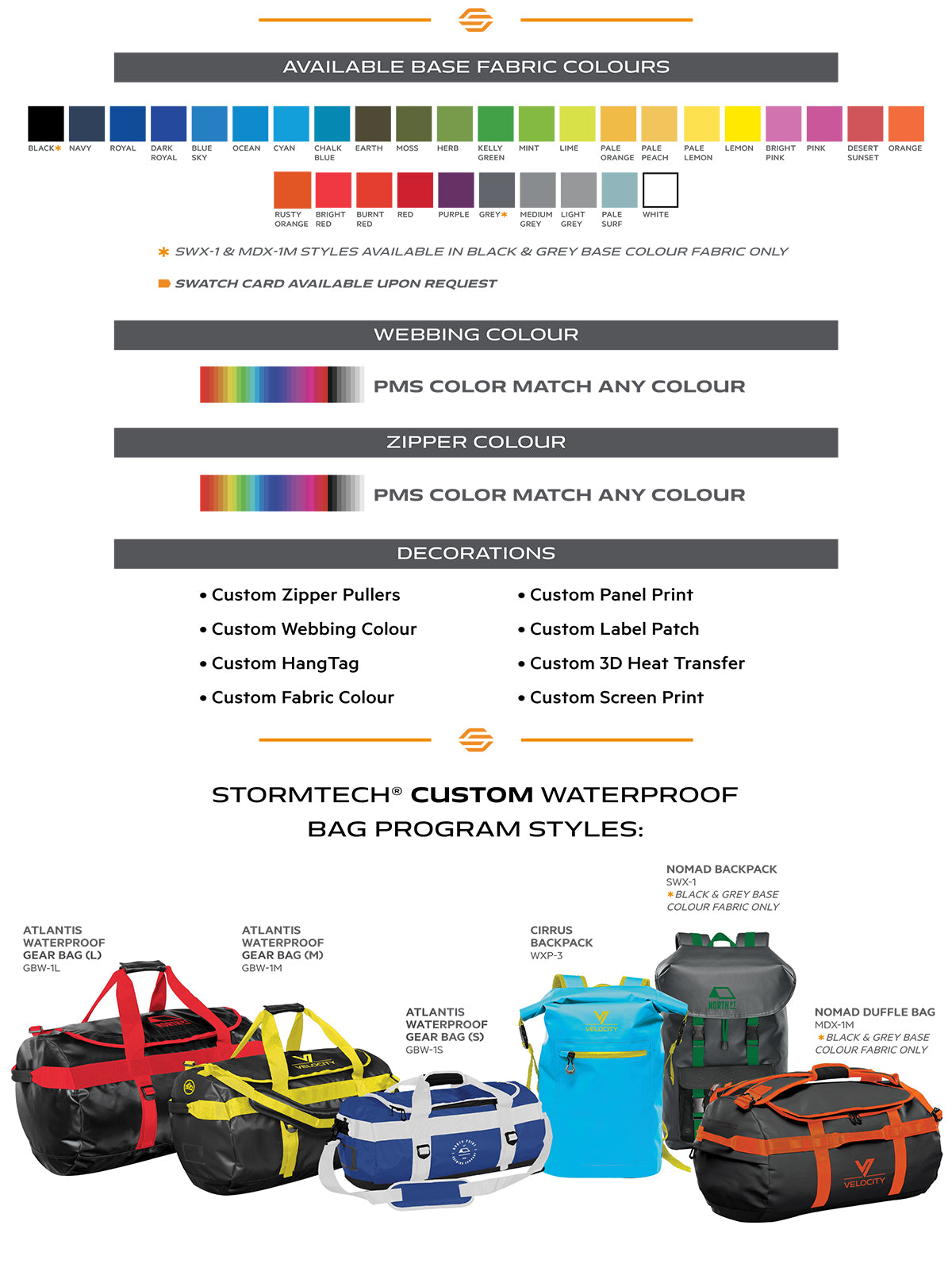 Custom Waterproof Bags - Content