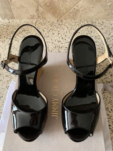 Jimmy Choo Patent wedges