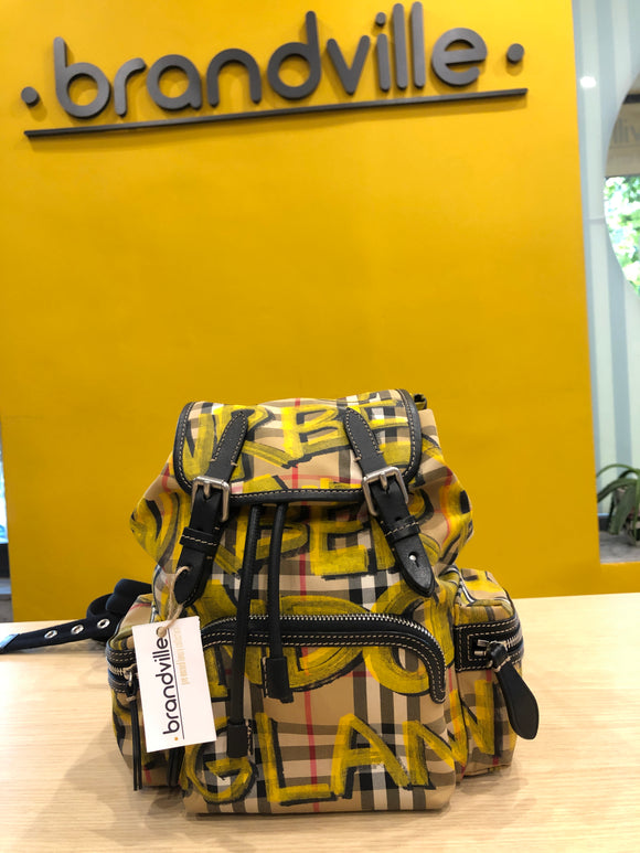 Burberry Vintage Graffiti Backpack