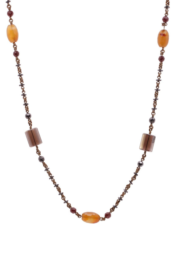 stephen-dweck-smoky-quartz-gemstone-bead-necklace