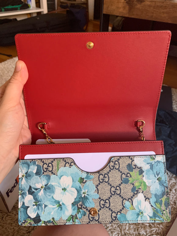Gucci Blooms Wallet On A Chain bag
