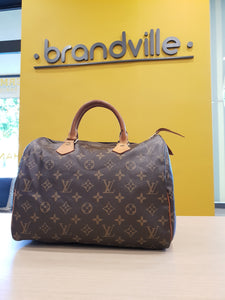 Louis Vuitton Monogram engraved Speedy 30 Bag