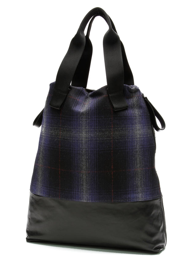 lanvin-tartan-calfskin-panel-tote-bag-black-blue