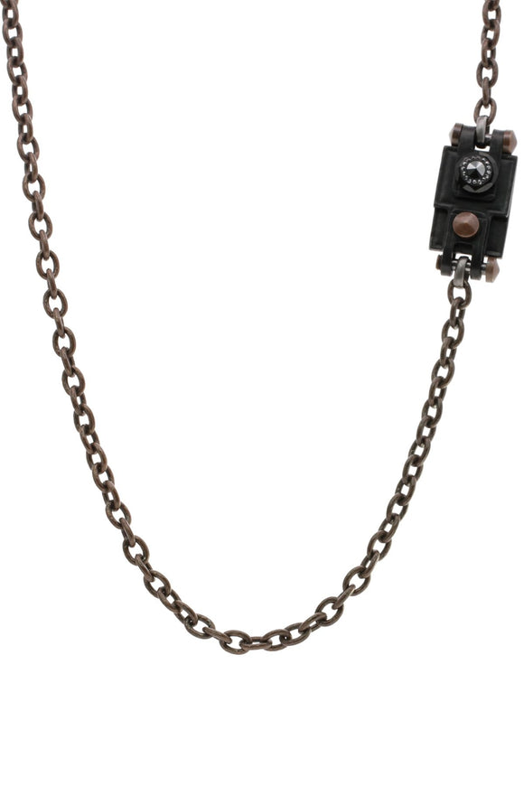 lanvin-leather-crystal-long-necklace-bronze