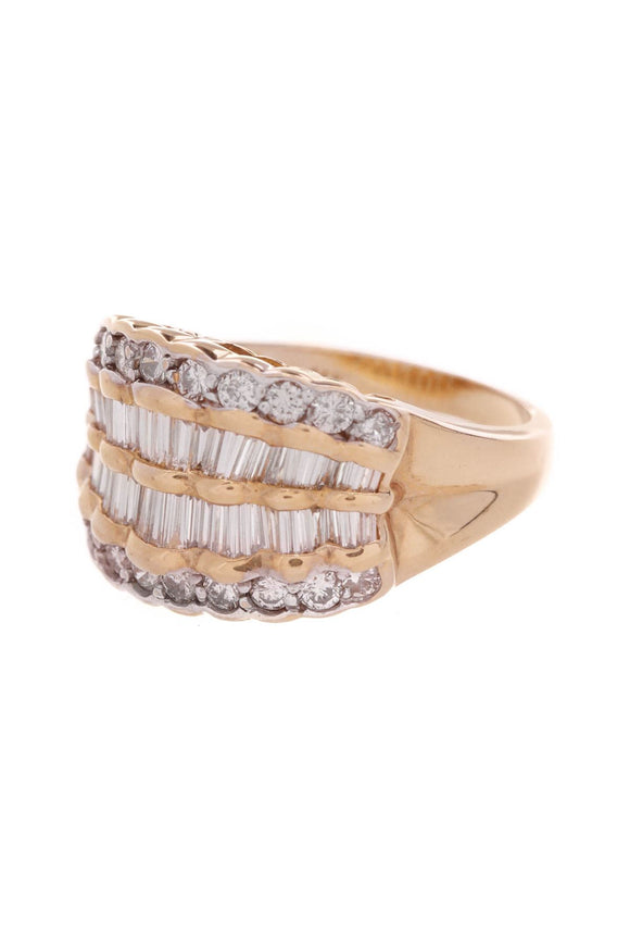 14k-yellow-gold-four-row-diamond-ring