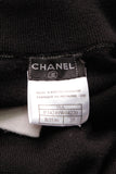 Chanel Cashmere Twin Sweater Set Black White Size 38