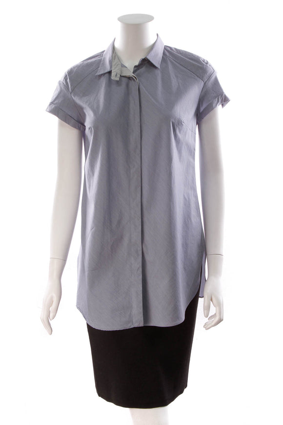 Brunello Cucinelli Button Down Blouse Blue