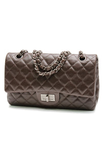 chanel-255-hybrid-flap-bag-medium-brown-lambskin