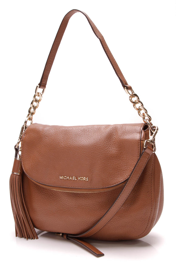 Michael Kors Bedford Flap Crossbody Bag Luggage Brown
