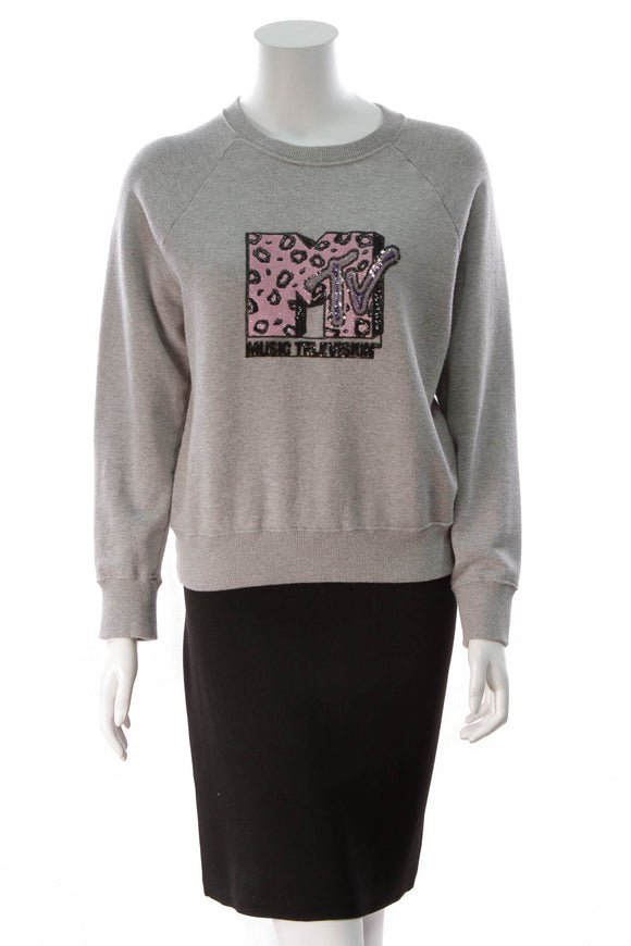 Marc Jacobs MTV Raglan Sweatshirt Grey Melange