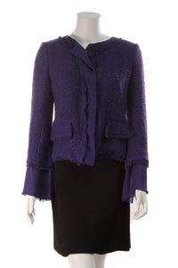Rena Lange Tweed Jacket Indigo Size 8