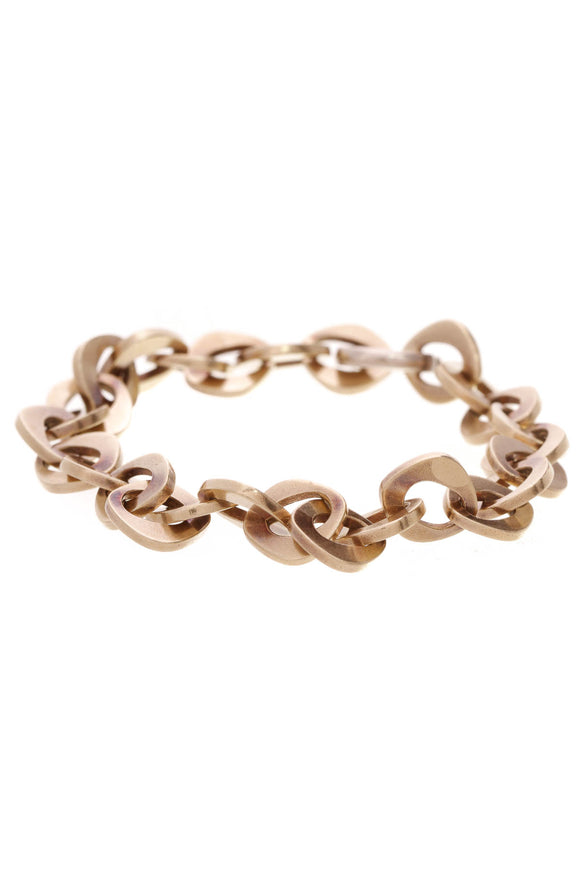 Palmetto Chain Bracelet 18K Yellow Gold