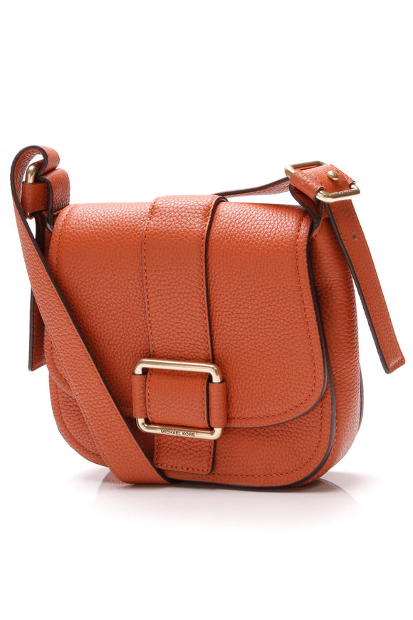 Michael Kors Medium Maxine Saddle Bag Orange