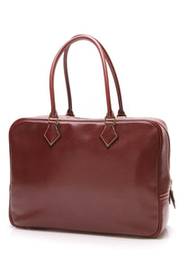 Hermes Plume 32 Bag Chevre Cormandel Leather Burgundy