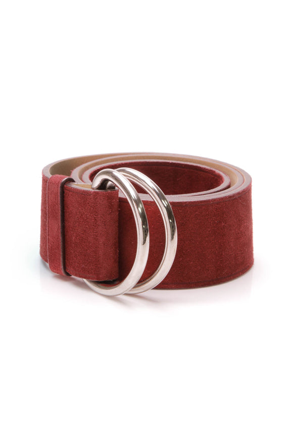 Prada Suede Belt Brick