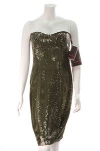 Escada Olive Sequin Dress
