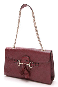 Gucci Emily Shoulder Bag Burgundy