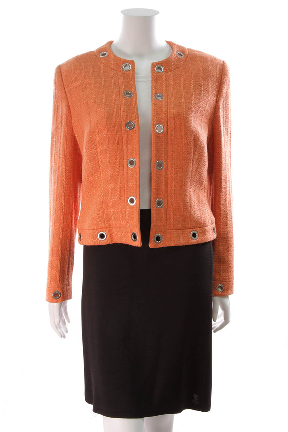 Escada Orange Grommet Jacket