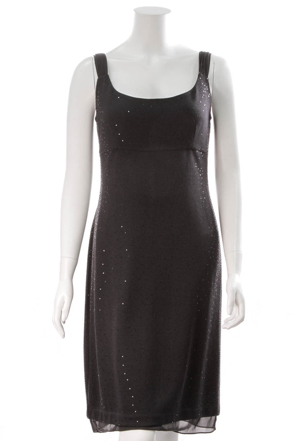 St John Knit sequin dress black