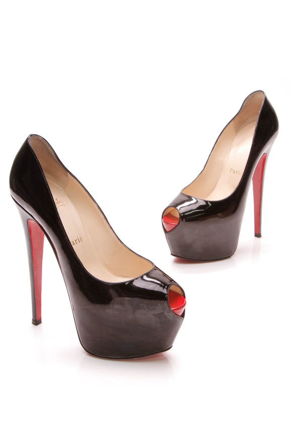 Christian Louboutin Highness platform pumps black