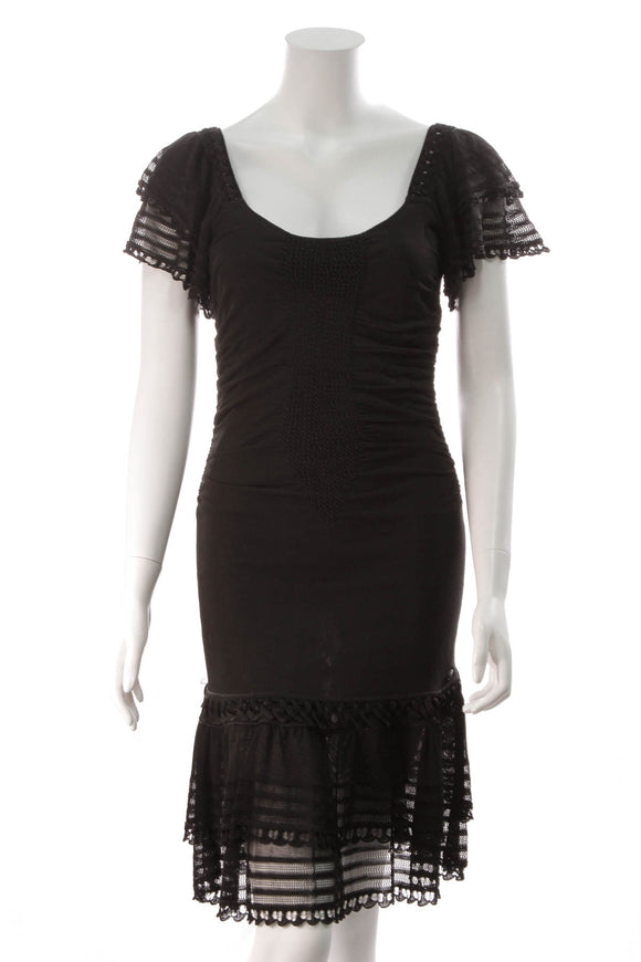 Chanel Ruffle Dress Black