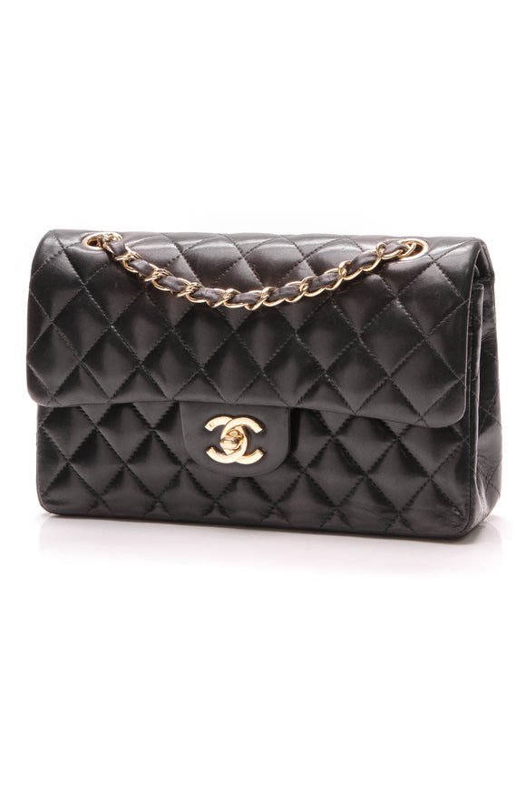 Chanel Classic Small Double Flap bag lambskin black