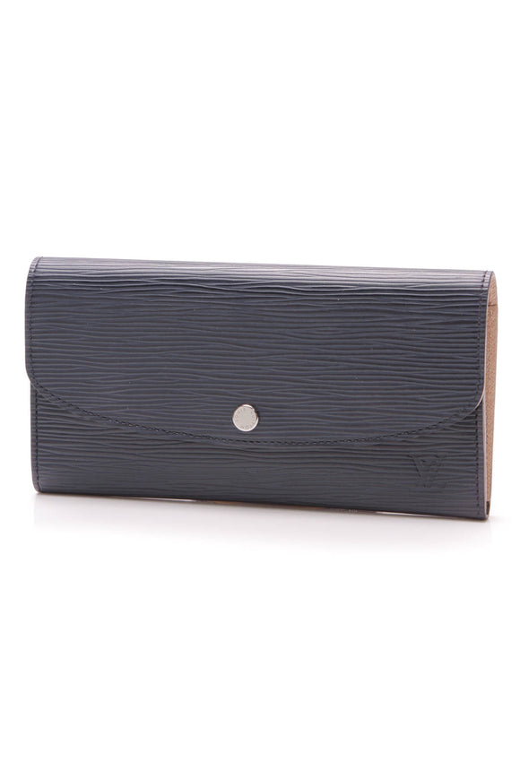 Louis Vuitton Indigo Epi Emilie Wallet Blue