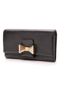 Chloe Bobbie Long Wallet Lambskin Black