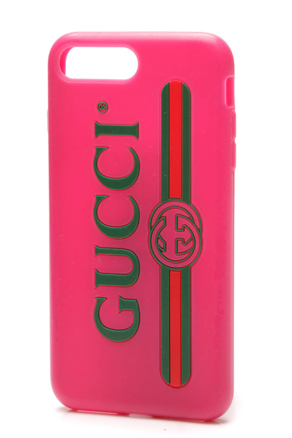 Gucci Icon iPhone Case 7+ Pink Green