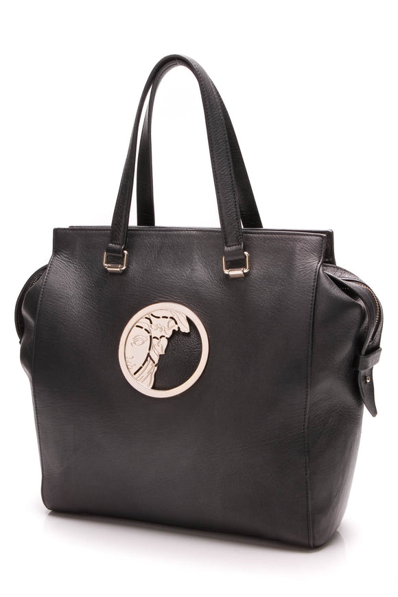 Versace Medusa black tote bag