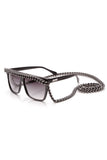 A-Morir Love/Hate Black Sunglasses Swarovski Crystals