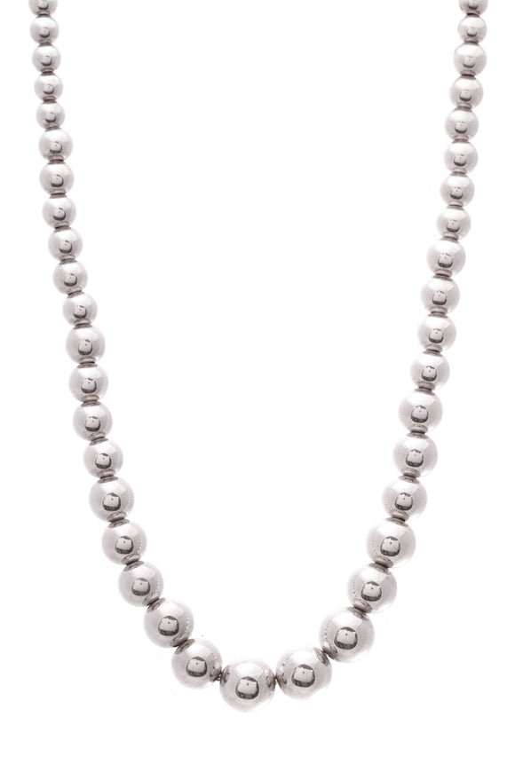 Tiffany & Co. Bead Necklace 10mm Sterling Silver