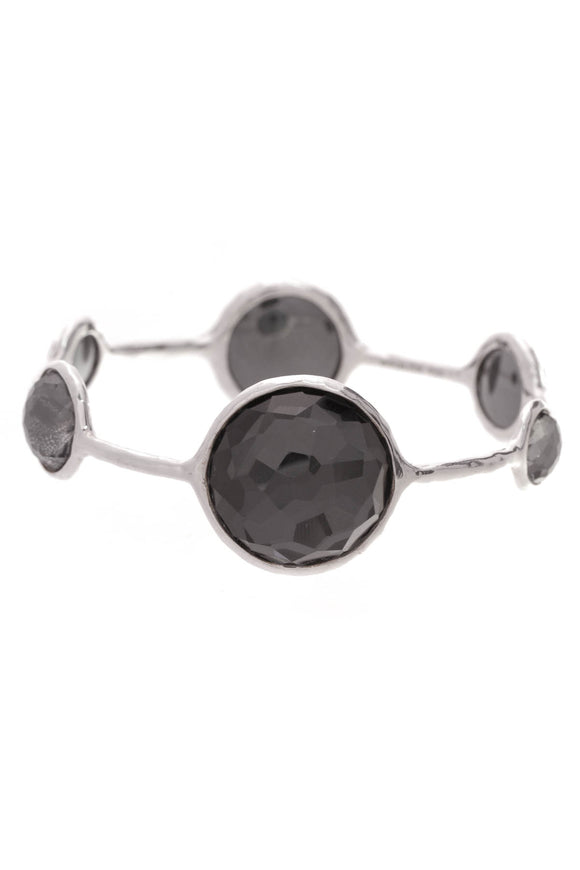 Ippolita Wonderland Lollipop Bangle Bracelet Hematite Silver