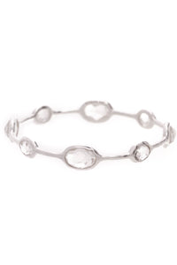 Ippolita Rock Candy Bangle Bracelet 8 Stone Quartz Sterling Silver
